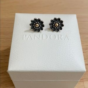 Authentic Pandora Sunflower Earrings
